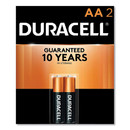 Duracell DURMN1500B2Z CopperTop Alkaline AA Batteries, 2/Pack