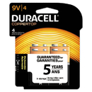 DURACELL PRODUCTS COMPANY DURMN16RT4Z Coppertop Alkaline Batteries With Duralock Power Preserve Technology, 9v, 4/pk