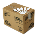 DIXIE FOOD SERVICE DXEPTM21 Plastic Cutlery, Mediumweight Teaspoons, White, 1000/carton