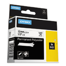 DYMO DYM18483 Rhino Permanent Poly Industrial Label Tape, 1/2