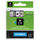 Dymo DYM45010 D1 High-Performance Polyester Removable Label Tape, 1/2