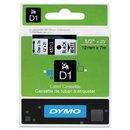 Dymo DYM45013 D1 High-Performance Polyester Removable Label Tape, 1/2