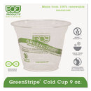 ECO-PRODUCTS, INC. ECOEPCC9SGS Greenstripe Renewable & Compostable Cold Cups - 9oz., 50/pk, 20 Pk/ct