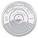 ECO-PRODUCTS, INC. ECOEPFLCC Greenstripe Renewable & Compost Cold Cup Flat Lids, F/9-24oz., 100/pk, 10 Pk/ct