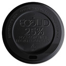 Eco-Products ECOEPHL16BR EcoLid 25% Recycled Content Hot Cup Lid, Black, Fits 10 oz to 20 oz Cups, 100/Pack, 10 Packs/Carton