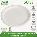 Eco-Product ECOEPP013PK Renewable & Compostable Sugarcane Plates, 9