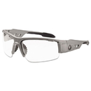 ergodyne 52100 Skullerz Dagr Safety Glasses, Matte Gray Frame/Clear Lens, Nylon/Polycarb