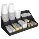 Mind Reader EMSCOMORGBLK 11-Compartment Coffee Condiment Organizer, 18 1/4 X 6 5/8 X 9 7/8, Black