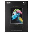 Epson EPSS042330 Hot Press Bright Fine Art Paper, 13 X 19, Bright White, 25 Sheets