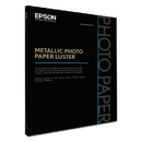 Epson EPSS045598 Professional Media Metallic Photo Paper Luster, White, 17 X 22, 25 Sheets/pack