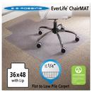 Es Robbins ESR120023 36 X 48 Lip Chair Mat, Task Series Anchorbar For Carpet Up To 1/4