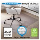 Es Robbins ESR120321 46 X 60 Rectangle Chair Mat, Task Series Anchorbar For Carpet Up To 1/4