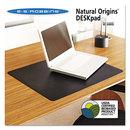 Es Robbins ESR120748 Natural Origins Desk Pad, 24 X 19, Matte, Black