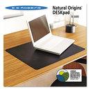 Es Robbins ESR120792 Natural Origins Desk Pad, 19 X 12, Matte, Black