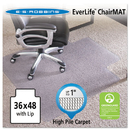 Es Robbins ESR124054 36x48 Lip Chair Mat, Performance Series Anchorbar For Carpet Up To 1