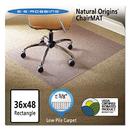 Es Robbins ESR141028 Natural Origins Chair Mat For Carpet, 36 X 48, Clear