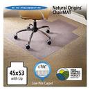 Es Robbins ESR141042 Natural Origins Chair Mat With Lip For Carpet, 45 X 53, Clear
