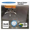 Es Robbins ESR143007 Natural Origins Chair Mat For Hard Floors, 36 X 48, Clear