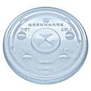 Fabri-Kal FABLGC1220 Greenware Cold Drink Lids, Fits 9, 12, 20 Oz Cups, Clear, 1000/carton