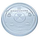 Fabri-Kal FABLGC1624 Greenware Cold Drink Lids, Fits 16-18, 24 Oz Cups, X-Slot, Clear, 1000/carton