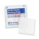 First Aid Only FAE-5005 SmartCompliance Gauze Pads, 3