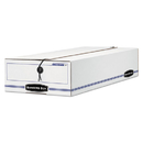 FELLOWES MANUFACTURING FEL00006 Liberty Storage Box, Check/voucher, 9 X 23 1/4 X 5 3/4, White/blue, 12/carton