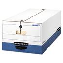 FELLOWES MANUFACTURING FEL0001203 Liberty Heavy-Duty Strength Storage Box, Legal, White/blue, 4/carton