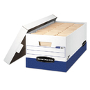 Bankers Box FEL0063101 Presto Maximum Strength Storage Box, Letter, 12 X 24 X 10, We, 12/carton