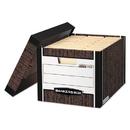 Bankers Box FEL0072506 R-Kive Max Storage Box, Letter/legal, Locking Lid, Woodgrain, 4/carton