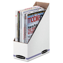 FELLOWES MANUFACTURING FEL10723 Corrugated Cardboard Magazine File, 4 X 9 1/4 X 11 3/4, White, 12/carton