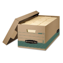 Bankers Box FEL1270101 Stor/file Extra Strength Storage Box, Letter, Lift-Off Lid, Kft/green, 12/carton