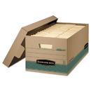Bankers Box FEL1270201 Stor/file Storage Box, Legal, Locking Lift-Off Lid, Kraft/green, 12/carton