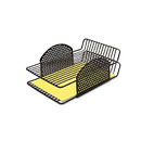 FELLOWES MANUFACTURING FEL22302 Perf-Ect Double Letter Tray, Two Tier, Wire, Black