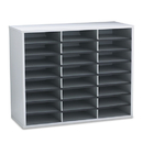 Fellowes FEL25041 Literature Organizer, 24 Letter Sections, 29 X 11 7/8 X 23 7/16, Dove Gray