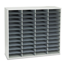 Fellowes FEL25081 Literature Organizer, 48 Letter Sections, 38 1/4 X 11 7/8 X 34 11/16, Dove Gray