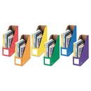 Bankers Box 3381901 Cardboard Magazine File, 4 1/4 x 11 3/8 x 12 7/8, Assorted, 6/PK