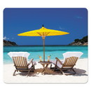 Fellowes 5916301 Recycled Mouse Pads, Caribbean Beach Design, 9 x 1/16