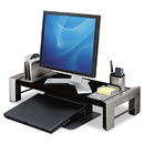 FELLOWES MANUFACTURING FEL8037401 Professional Series Flat Panel Workstation, 25 7/8 X 11 1/2 X 4 1/2, black/silver