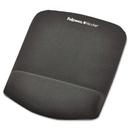Fellowes FEL9252201 Plushtouch Mouse Pad With Wrist Rest, Foam, Graphite, 7 1/4 X 9-3/8