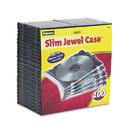 FELLOWES MANUFACTURING FEL98335 Slim Jewel Case, Clear/black, 100/pack