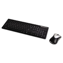 Fellowes FEL9893601 Slimline Wireless Antimicrobial Keyboard And Mouse, 15 Ft Range, Black