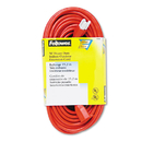 Fellowes FEL99598 Indoor/outdoor Heavy-Duty 3-Prong Plug Extension Cord, 1-Outlet, 50ft, Orange