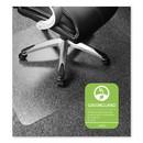 Floortex ER1115223ER Cleartex Ultimat Polycarbonate Chair Mat for Low/Medium Pile Carpet, 48 x 60, Clear