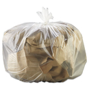 GEN GEN333916 High-Density Can Liner, 33 X 39, 33gal, 13mic, Natural, 25 Bags/rl, 10 Rolls/ct