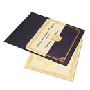 GEOGRAPHICS GEO47481 Ivory/gold Foil Embossed Award Cert. Kit, Blue Metallic Cover, 8-1/2 X 11, 6/kit