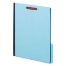 Globe-Weis GLW61542 Earthwise Heavy-Duty Pressboard Folders, 1/3 Cut Tab, Letter, Light Blue, 25/box