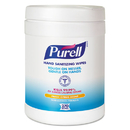 Purell GOJ911306EA Sanitizing Hand Wipes, 6 X 6 3/4, White, 270 Wipes/canister