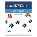 HAMMERMILL/HP EVERYDAY PAPERS HAM105031 Copy Plus Copy Paper, 3-Hole Punch, 92 Brightness, 20lb, Ltr, White, 500 Shts/rm