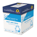 Hammermill HAM67780 Great White Recycled Copy Paper, 92 Brightness, 20lb, 8-1/2 X 11, 2500 Shts/ctn