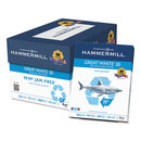 HAMMERMILL/HP EVERYDAY PAPERS HAM86700 Great White Recycled Copy Paper, 92 Brightness, 20lb, 8-1/2 X 11, 5000 Shts/ctn